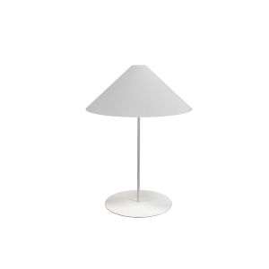 Maine White One-Light Slope Table Lamp