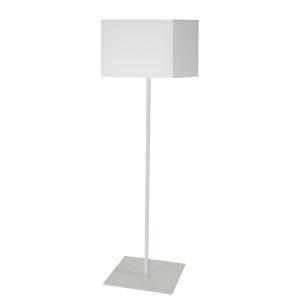 Maine White One-Light Slope Floor Lamp