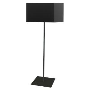 Maine Black One-Light Square Floor Lamp