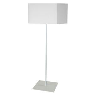 Maine White One-Light Square Floor Lamp