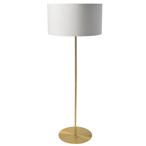 Maine White with Aged Brass One-Light Drum Floor Lamp