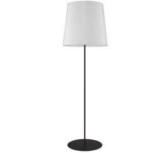 Matte Black and White One-Light Minimalist Floor Lamp
