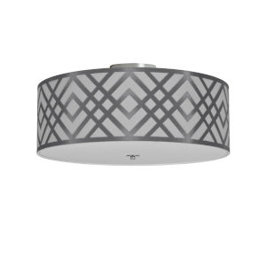 Mona White with Polished Chrome Four-Light Flush Mount