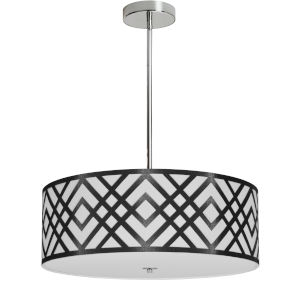 Mona Black with Polished Chrome 19-Inch Four-Light Pendant