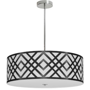 Mona Black with Polished Chrome 24-Inch Four-Light Pendant