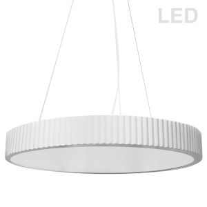 Nabisco Matte White LED Pendant