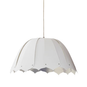 Noa White Silver 15-Inch One-Light Pendant