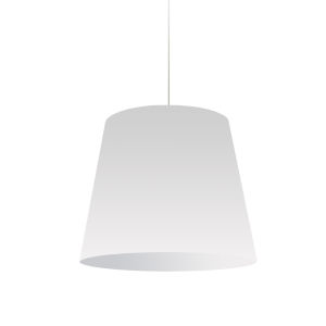 White with Polished Chrome 20-Inch One-Light Pendant