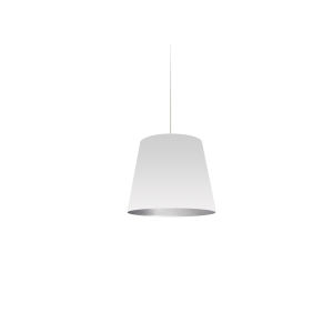 White with Polished Chrome 10-Inch One-Light Pendant