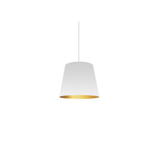 White Gold 10-Inch One-Light Pendant