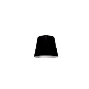 Black with Polished Chrome 10-Inch One-Light Pendant