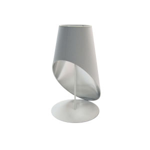 White Silver One-Light Table Lamp