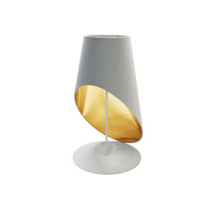 White Gold One-Light Table Lamp