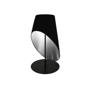 Black Silver One-Light Table Lamp