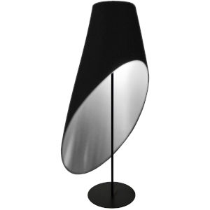 Black Silver Three-Light Floor Lamp