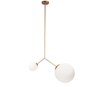 Orion Gold Two-Light Pendant