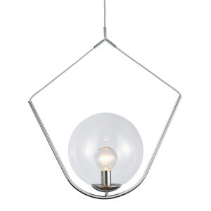 Orion Polished Chrome with Opal One-Light Pendant