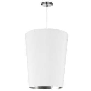 Paisley White Silver 16-Inch One-Light Pendant