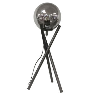 Pamela Matte Black with Smoke One-Light Table Lamp