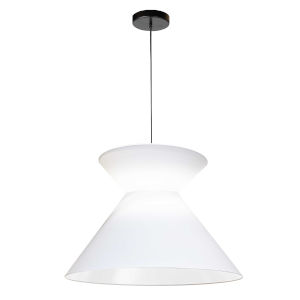Patricia Black White One-Light Pendant
