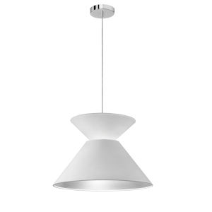 Patricia Polished Chrome with White Silver One-Light Pendant