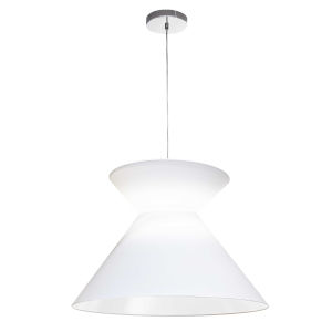 Patricia Polished Chrome with White One-Light Pendant