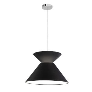 Patricia Polished Chrome with Black One-Light Pendant