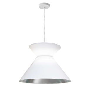 Patricia White Silver One-Light Pendant