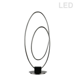 Phoenix Matte Black LED Table Lamp