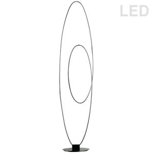 Phoenix Matte Black LED Floor Lamp