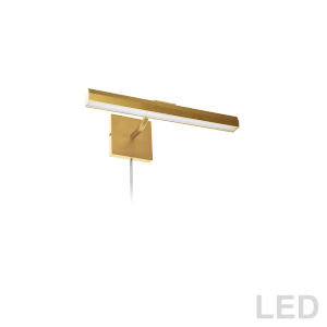 Leonardo Aged Brass Two-Light LED Picture Light