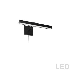 Leonardo Matte Black Two-Light LED Picture Light