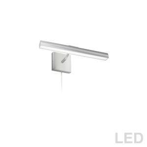 Leonardo Satin Chrome Two-Light LED Picture Light