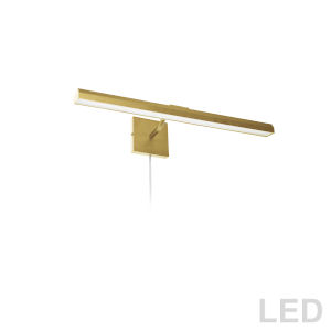 Leonardo Aged Brass Three-Light LED Picture Light