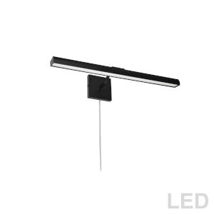 Leonardo Matte Black Three-Light LED Picture Light