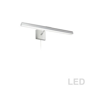 Leonardo Satin Chrome Three-Light LED Picture Light