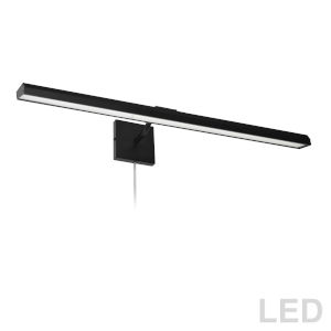 Leonardo Matte Black Four-Light LED Picture Light