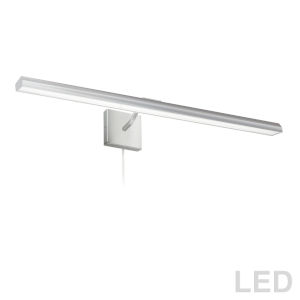 Leonardo Satin Chrome Four-Light LED Picture Light
