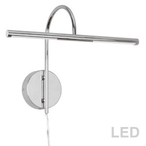 Polished Chrome 18-Inch Two-Light LED Picture Light