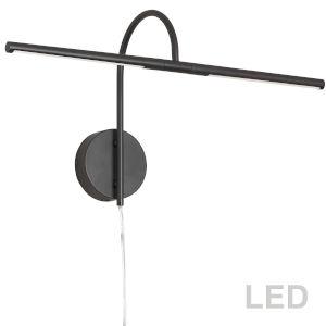 Matte Black 26-Inch Two-Light LED Picture Light