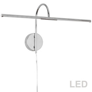 Polished Chrome 26-Inch Two-Light LED Picture Light