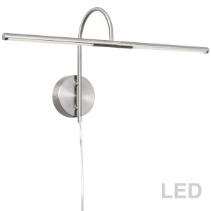 Satin Chrome 26-Inch Two-Light LED Picture Light