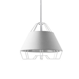 Rockwell White One-Light Pendant