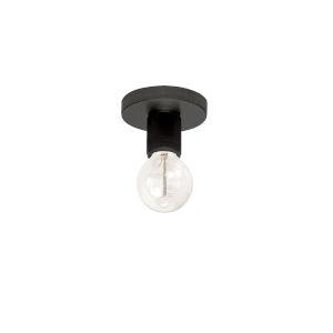Roswell Matte Black Five-Inch One-Light Flush Mount
