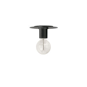 Roswell Matte Black Eight-Inch One-Light Flush Mount