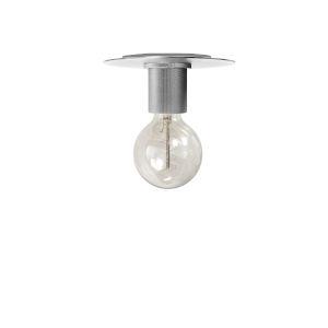 Roswell Satin Chrome Eight-Inch One-Light Flush Mount