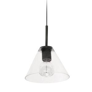Roswell Matte Black One-Light Pendant