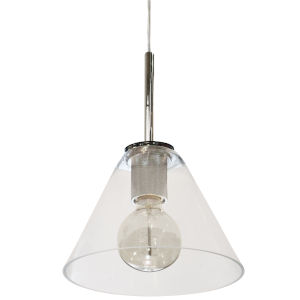 Roswell Polished Chrome with Clear One-Light Mini Pendant