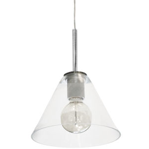 Roswell Satin Chrome with Clear One-Light Mini Pendant