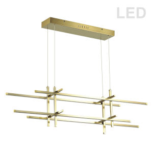 Sally Aged Brass with White Eight-Light LED Pendant